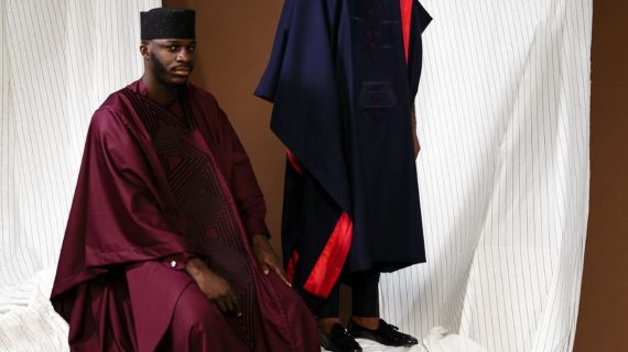 The Perfect Agbadas in Jewel Tones and Stripe Detailing — Obviously, They're Kimono Collection